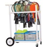 All-Terrain ABS Racket Cart on Wheels and Casters, 32.5Lx19Wx35H