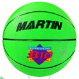 Basketball, official size 7, rubber, nylon wound, green