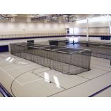 Ceiling Suspended Motorized Retractable Batting Cage, Multi-Sport, net included, 10'H x 12'W x 70'L