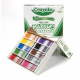 Classic Color Markers, Fine Line Classpack, 200 ct