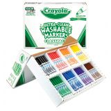 Classic Color Washable Markers, Broad Line Classpack, 256 ct