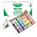 Classic Color Markers, Broad Line Classpack, 256 ct