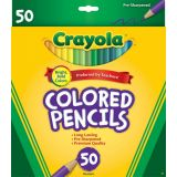 Colored Pencils, Long, 50 Pack