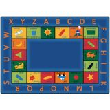 Bilingual Circletime Carpet, 5'10 x 8'4 Rectangle