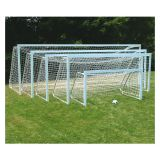 Square Natural Finish Club Goal, all aluminum, 4'6H x 6'W x 2'B x 5'D, white mesh net included