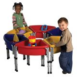 6 Station Sand & Water Play Table with Lids, 49 1⁄2 diameter