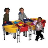 8 Station Sand & Water Play Table with Lids, 60W x 30D