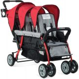 The Trio Sport™ Triple Tandem Stroller, Red