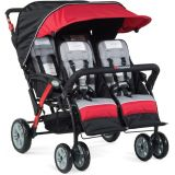 The Quad Sport™ 4-Passenger Stroller, Red
