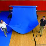 Gym Guard Floor Protection 22 oz. Fabric, 3-ply, 10'W Sections, Royal Blue