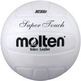 MOLTEN- Official Super-Touch Volleyball with Premium Leather Cover, NFHS Approved, White