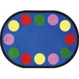 Lots Of Dots Rug, 5'4 x 7'8 Oval (12 spaces), Primary