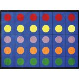 Lots Of Dots Rug, 10'9 x 13'2 Rectangle (30 spaces), Primary