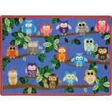 It's A Hoot Rug, 5'4 x 7'8 Rectangle