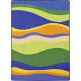 Riding Waves Rug, 5'4 x 7'8 Rectangle