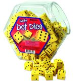 Hands-On Soft Number Dice Bucket