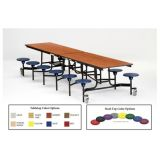 10' Rectangle Cafeteria Stool Table, MDF with ProtectEdge & Chrome Frame