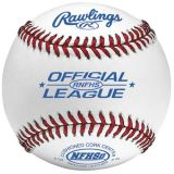 Rawlings High School Baseball with Full-Grain Leather Cover, Cork Center and Raised Seam, 12-pk