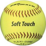 Softball, 11 optic yellow syntex leather cover, sponge rubber core, 12-pk