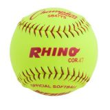 12 Synthetic Leather Cover Softball with .47 Poly Core, 1 Dozen