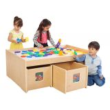 """See & Store Activity Table, 46""""W x 33.5""""D x 17.5""""H, with Manipulatives"""
