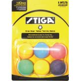 1 Star Table Tennis Multi-Colored Balls, 6-Pack