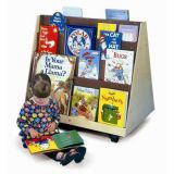 Two-Sided Book Display Stand, on Casters, 36W x 30H x 23D