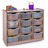 Clear-Tray Storage Cabinets, 12-Tray Unit