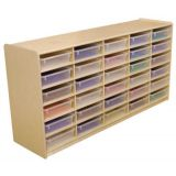 (30) 3 Letter Tray Storage Unit with Translucent Trays