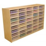 (40) 3 Letter Tray Storage Unit with Translucent Trays