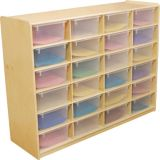(24) 5 Letter Tray Storage Unit with Translucent Trays