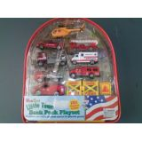 FIRETRUCK BACK PACK 10 PC SET