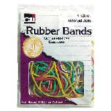 Rubber Bands, Assorted Colors, 1 3/8 oz. bag