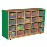 20-Tray Storage, 30H x 48W, With TranslucentTrays, Green Apple™