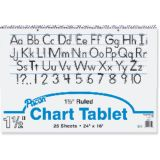 Chart Tablet, 24 x 16 Ruled 1 1/2 Tablet
