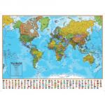 Hemispheres® Laminated Map, U.S./World 2-Map Pack