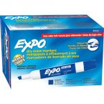 Expo® Low Odor Dry Erase Markers, Chisel Tip, Blue