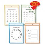 Reusable Dry Erase Pockets, Set of 10