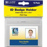 C-Line® Poly ID Badge Holders, Horizontal