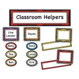 Colorful Chalkboard Classroom Management Mini Bulletin Board Set
