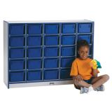 25 Tray Mobile Cubbie, With clear trays