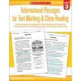 Informational Passages for Text Marking & Close Reading, Grade 3
