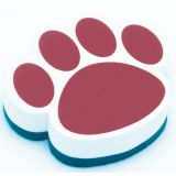 Magnetic Whiteboard Erasers, Maroon Paw