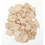 Wooden Shapes, 350 pieces