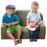 Just Like Home Infant/Toddler Sofa, Enviro-Child Upholstery, Sage
