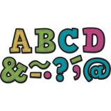 Magnetic 2 Letters, Chalkboard Brights Bold Block
