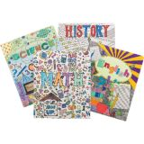 Smead® Coloring Two-Pocket Folders, School Subjects