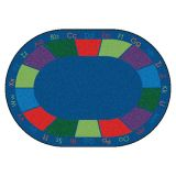 Colorful Places Seating Rug, 8'3 x 11'8 Oval, Primary Colors
