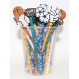 Pencil & Eraser Topper Write-Ons, Sports