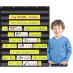 10-Pocket Pocket Chart, Black